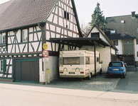 typical german fachwerkhaus, somewhere on the way along bergstraße, spring 2014