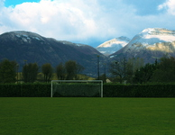 football field at HP office in Grenoble