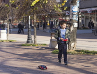 young boy in pirot with bugatti